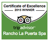 2015 Trip Advisor Certificate of Excellence Rancho La Puerta