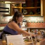 Amy Pennington busy teaching the ways of farm fresh cooking.