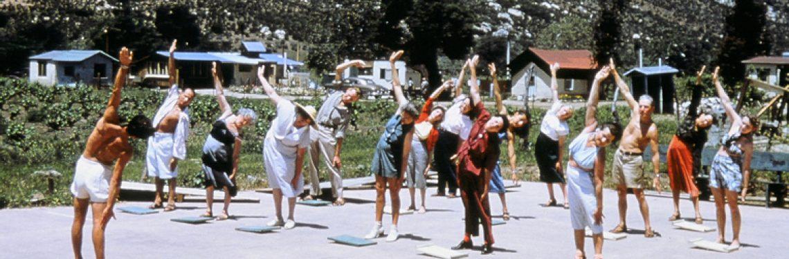 1950's exercise class at Rancho La Puerta