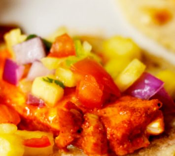 Grilled Fish Taco Recipe with Pineapple Salsa Fresca