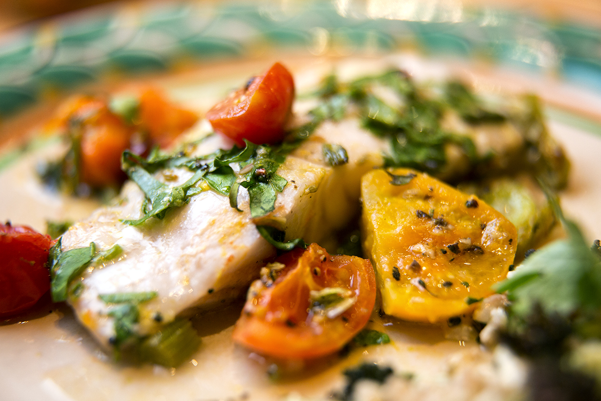 Fish recipe orange and fennel roasted cod from kathleen for Cod fish recipes