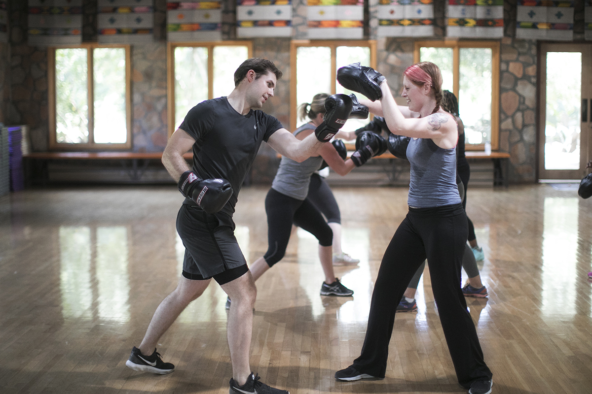 Cardio Boxing at Rancho La Puerta