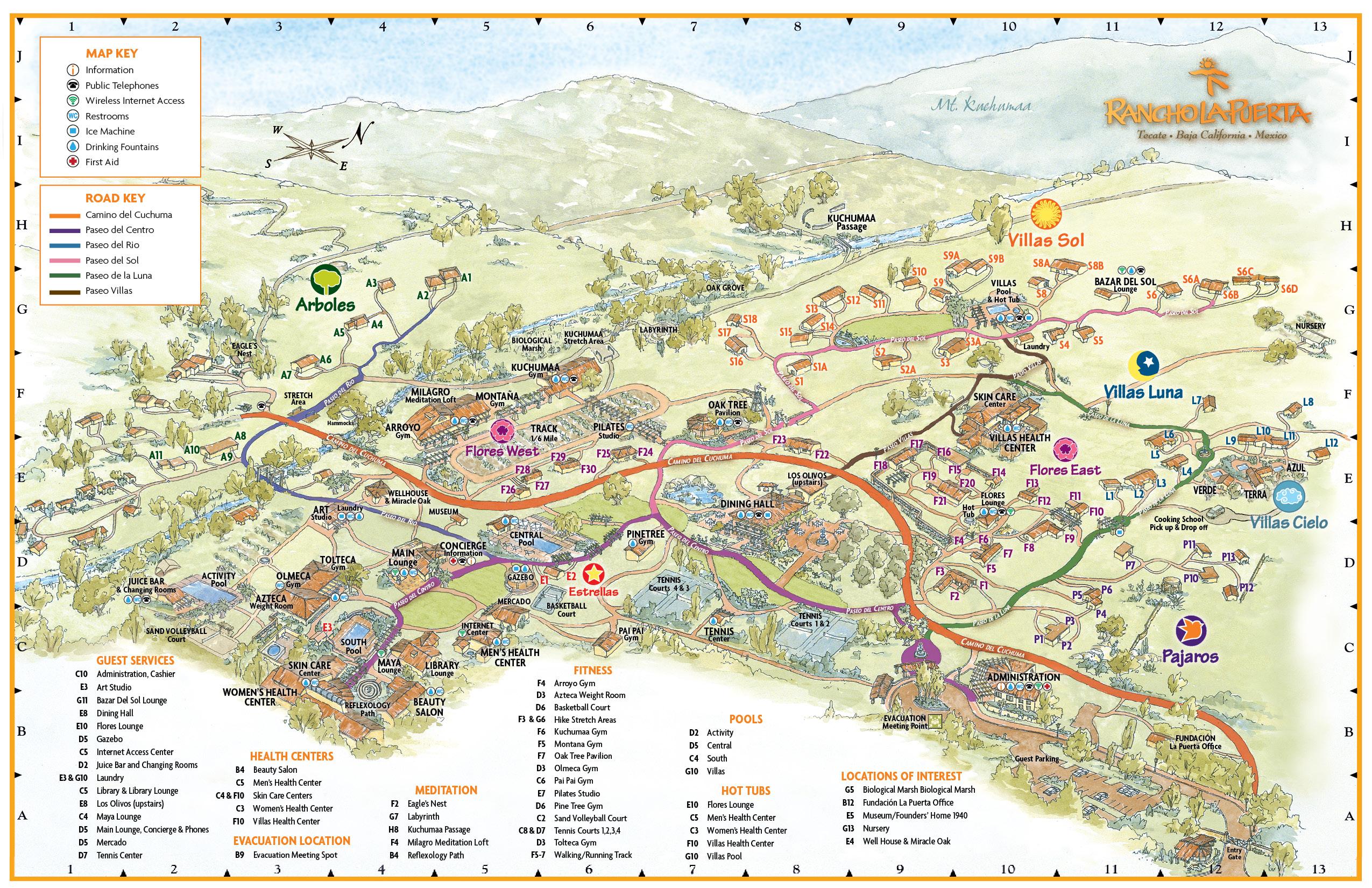 Rancho La Puerta Map