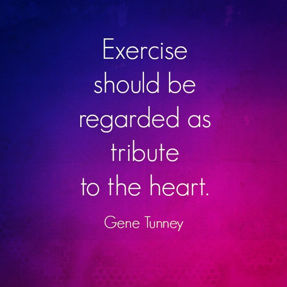 gene tunney, exercise quote
