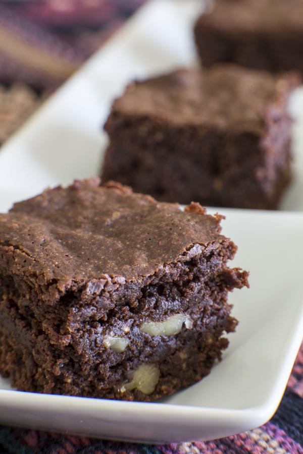 Quinoa Walnut Brownies