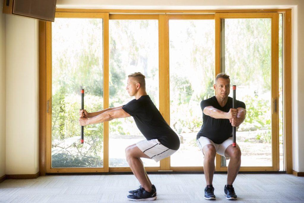 Squat workout routine with Manuel Velasquez at Rancho La Puerta