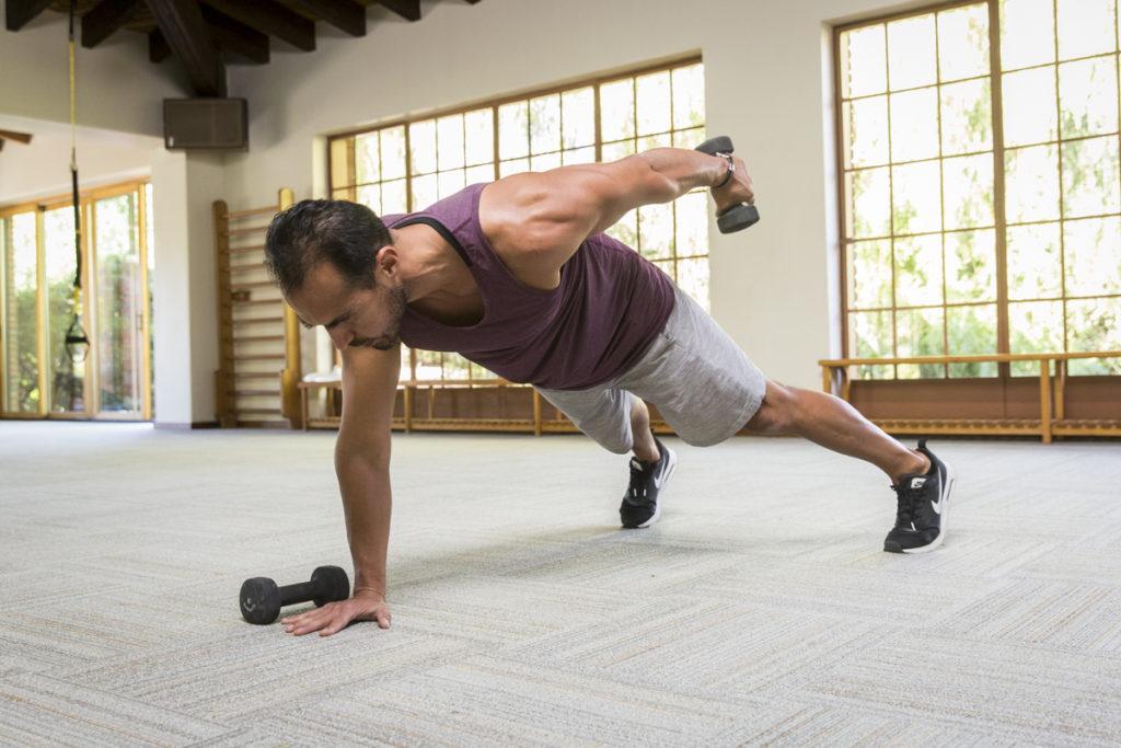 Strength Building Plank Arm Row Tutorial
