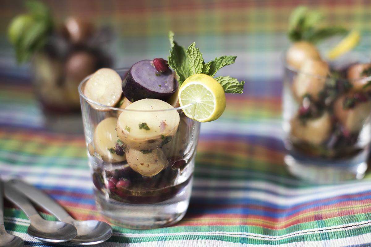 Mojito Potato Pomegranate Salad from Raghavan Iyer