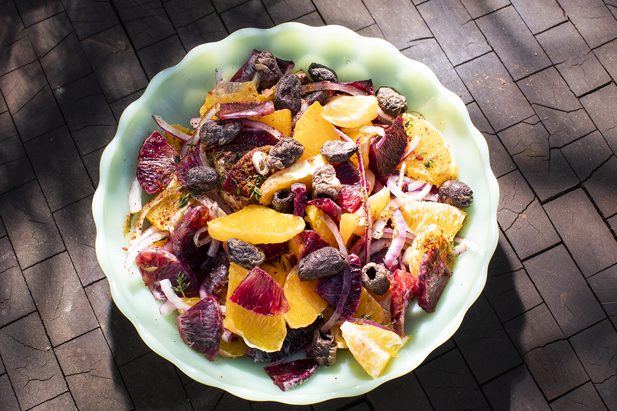 Orange and Red Onion Salad, with Roasted Olives from the Anatolian ...