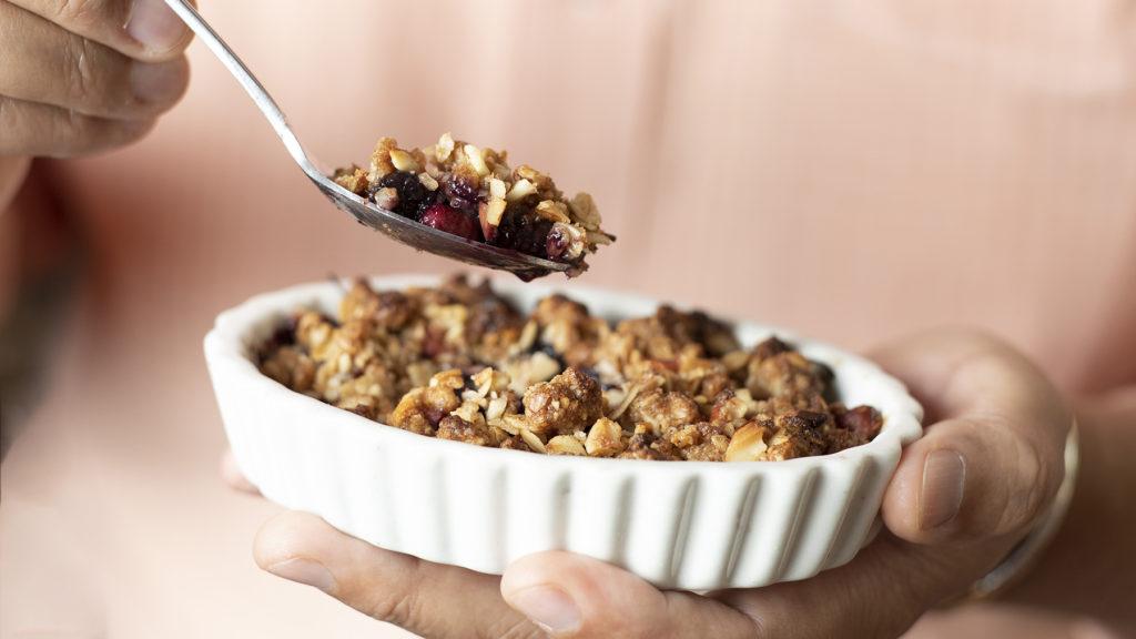 Mulberry Apple Crumble Recipe