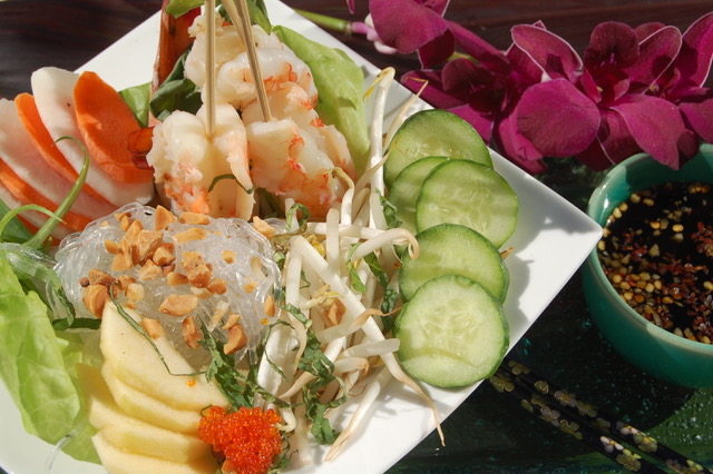 Asian Shrimp and Noodle Bowl from Dahlia Haas