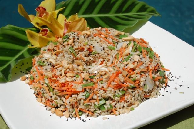 Hawaiian Style Rice Salad with a Pineapple Dressing from Dahlia Haas