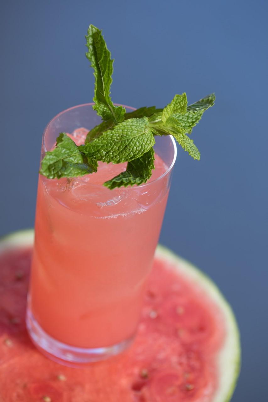Sweet Watermelon Mint Agua Fresca Recipe