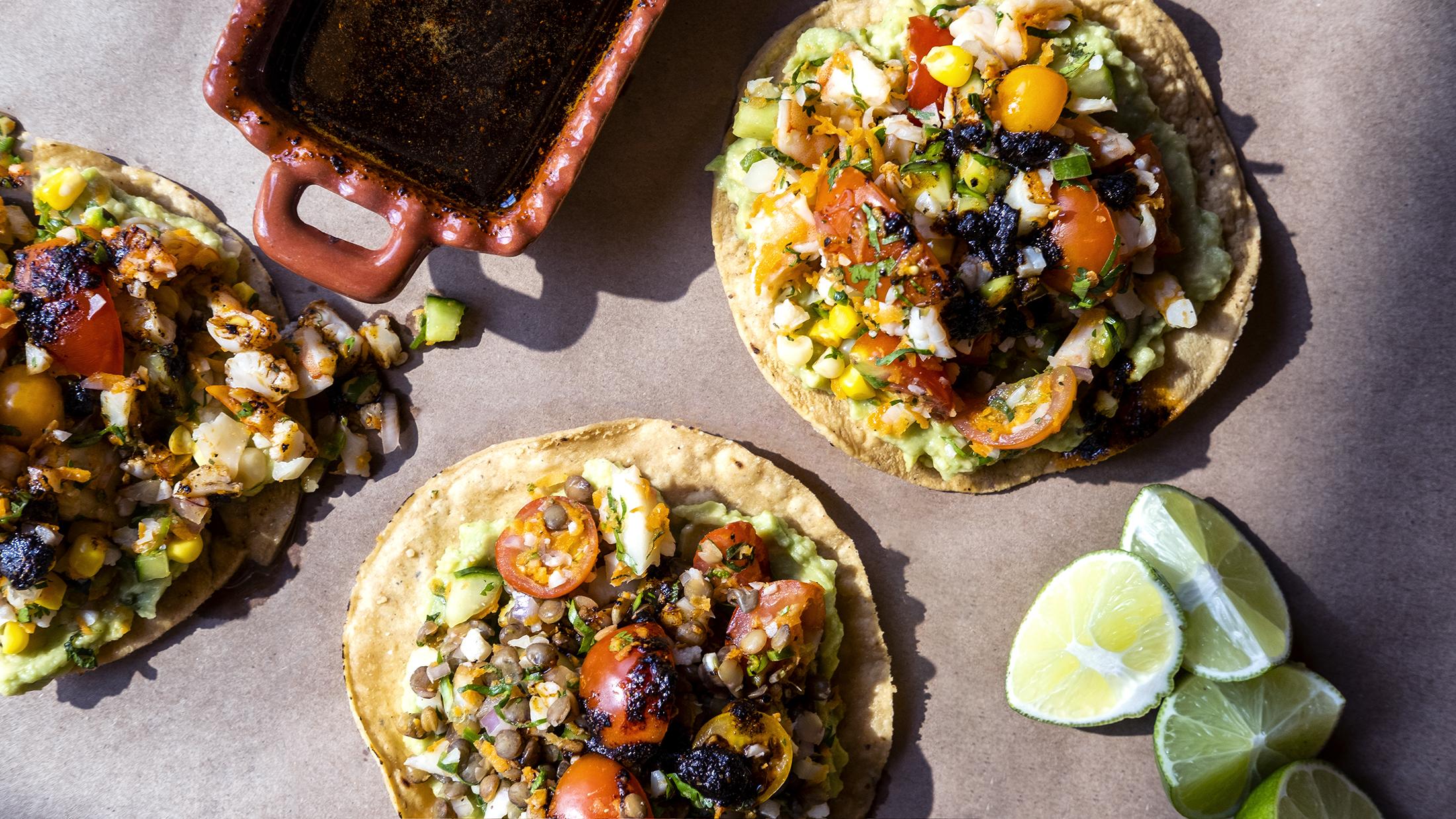 Ceviche Tostadas with Avocado & Salsa Macha from Executive Chef Reyna