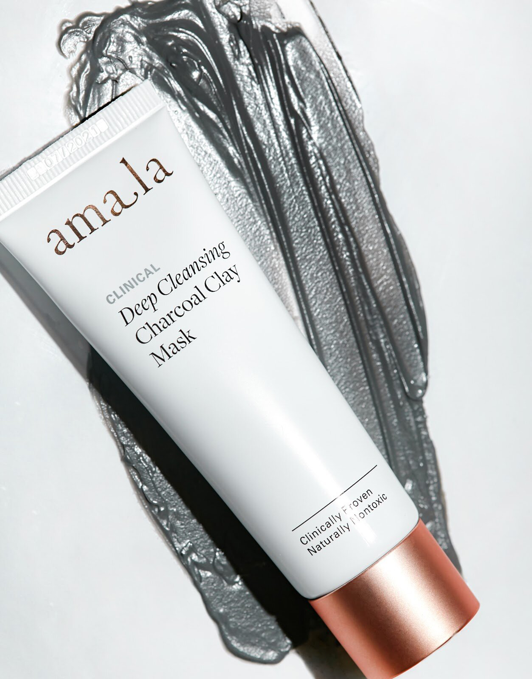 deep cleansing charcoal clay mask, amala