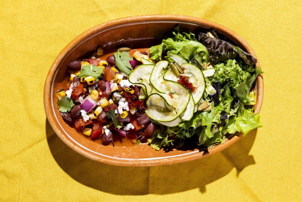 Three Sisters Salad Recipe-  Corn, Beans, & Squash.